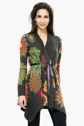 DESIGUAL Womens Open Neck Printed Shrug