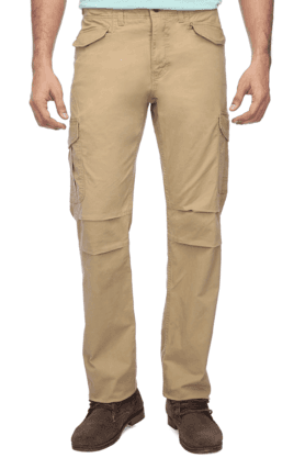 CELIO Mens 6 Pocket Solid Cargos
