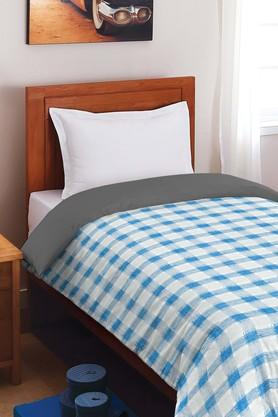 Quilts, Mattresses - Allure Blue 150 GSM Polywadding Single Comforter