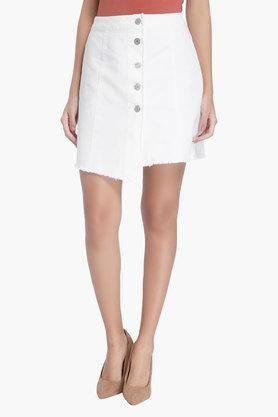 VERO MODA Womens Solid Short Skirt