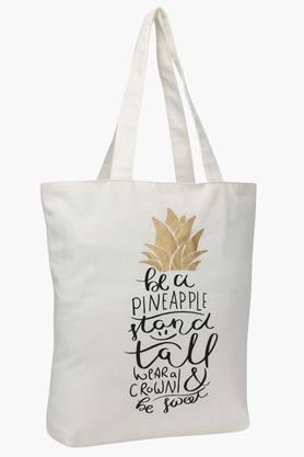 Rectangular Be A Pineapple Print Shopping Bag