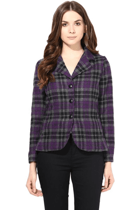 THE VANCA Women Plaid Jacket