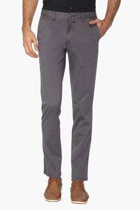 LOUIS PHILIPPE SPORTS Mens 4 Pocket Solid Chinos - 202453439