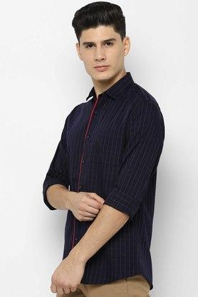 ALLEN SOLLY - Navy Casual Shirts - 2