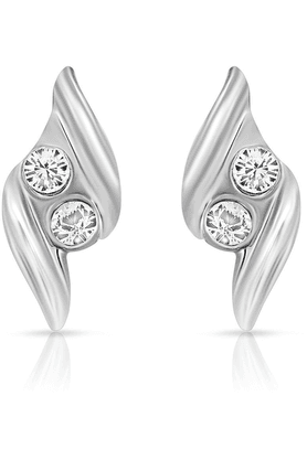 MAHIMahi Rhodium Plated Impresionante Earrings With Crystals For Women ER1108719R