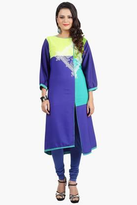 JASHN Womens Colour-blocked Printed Kurta - 201752527