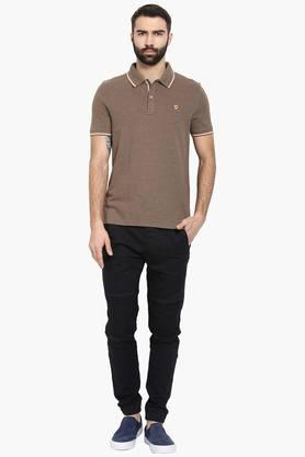 Mens Solid Slim Fit Polo T-Shirt