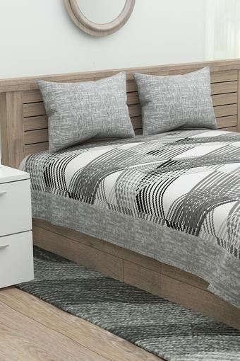 Printed Double Bed Cover Set with 2 Pillow Cover