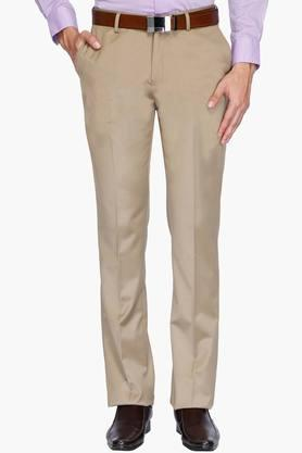 BLACKBERRYSMens 4 Pocket Regular Fit Solid Formal Trousers - 202123827
