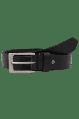 LIFEMens Textured Leather Formal Belt