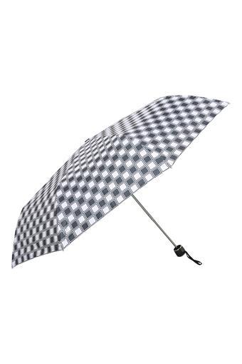 Unisex Checked 3 Fold Umbrella