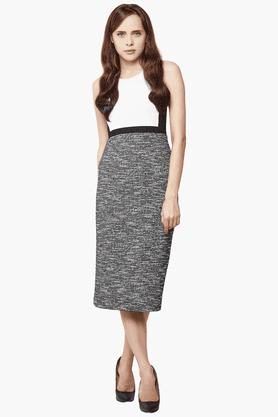 Womens Slim Fit Printed Midi Dress