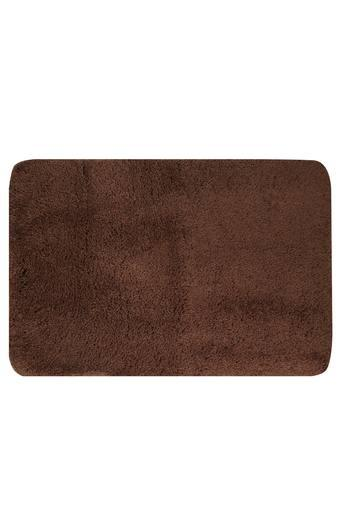 Solid Textured Rectangular Bath Mat Pack of 2
