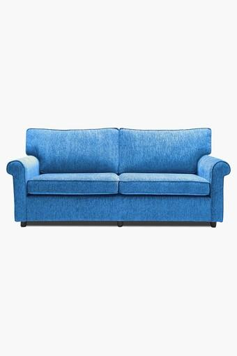Persian Blue Fabric Sofa (3 - Seater)