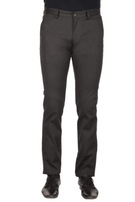INDIAN TERRAIN Mens Flat Front Slim Fit Solid Chinos - 9983076
