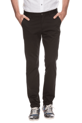 INDIAN TERRAIN Mens Slim Fit Solid Chinos - 200699381