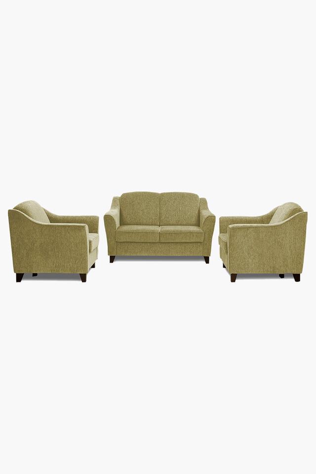 Victorian Gold Fabric Sofa (2-1-1 Sofa Set)