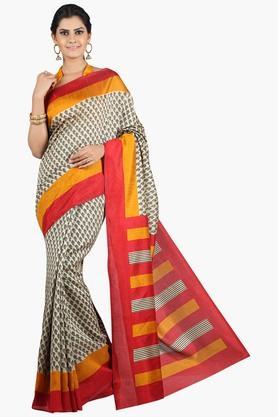 JASHN Women Tussar Silk Printed Saree  ... - 201860660