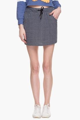 ONLY Womens 2 Pocket Stripe Short Skirt