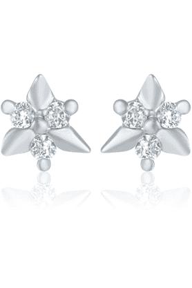 MAHIMahi Rhodium Plated Bling Earrings With CZ For Women ER1109157R