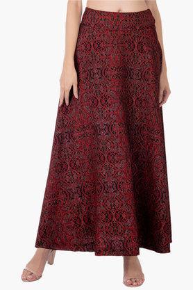 INDYAWomens Printed Long Skirt - 202498088_9607
