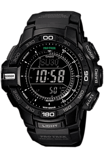 Outdoor - Resin Strap Watch with Black Round Dial - SL72