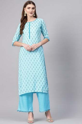GERUA -  BlueSalwar & Churidar Suits - Main