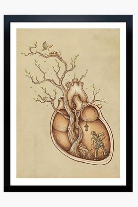 CRUDE AREA Multi Colour Trees Of Life Printed Art Print (Extra Large)  ...