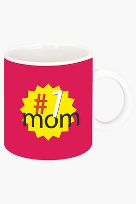 CRUDE AREA Number 1 Mom Printed Ceramic Coffee Mug