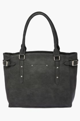 ELLIZA DONATEIN Womens Synthetic Leather Zipper Closure Shoulder Handbag