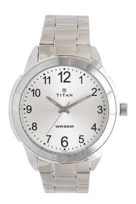 Mens Silver Dial Stainless Steel Watch - NJ1585SM04C