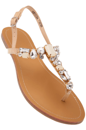 VAN HEUSENWomens Toned Flat Sandal