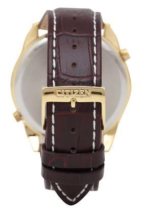 Mens Dual Time White Dial Analogue Watch - AO3032-02A