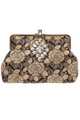 Womens Mix Diamond Sling Clutch