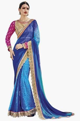 DEMARCAWomens Bandhej Printed Saree