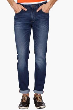 LOUIS PHILIPPE JEANS Mens 5 Pocket Regular Fit Heavy Wash Jeans (Colorado Fit)