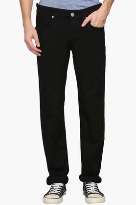 LOUIS PHILIPPE JEANS Mens Slim Fit 5 Pocket Coated Jeans (Matt Fit)