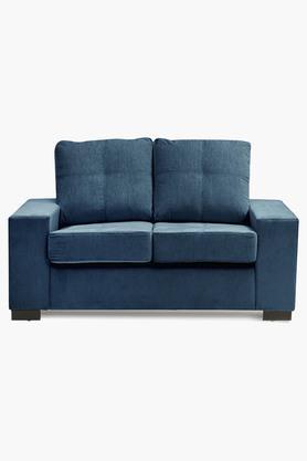 Zafree Blue Fabric Sofa (2 - Seater)