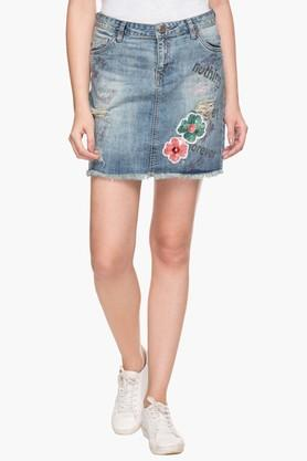 RS BY ROCKY STAR Womens 5 Pocket Washed Skirt