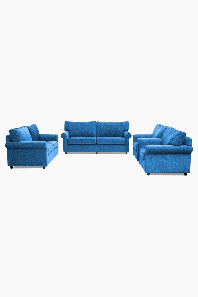 Persian Blue Fabric Sofa (3-2-1-1 Sofa Set)
