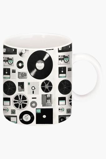 Floppy and Disk Data Printed Ceramic Coffee Mug