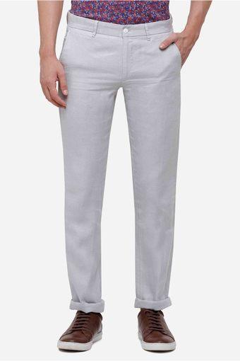 LINEN CLUB -  GreyFormal Trousers - Main