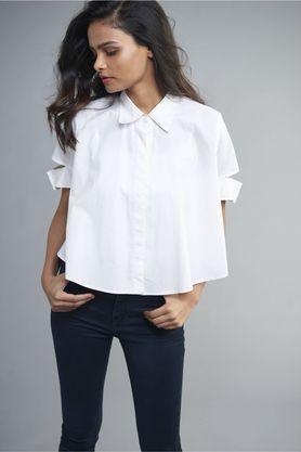 Womens Off Duty Crop Shirt
