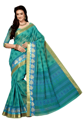 ASHIKA Womens Printed Cotton Saree - 201039472