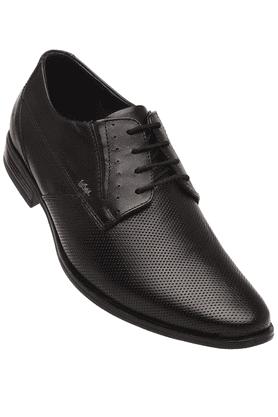 LEE COOPERMens Black Leather Formal Lace Up Shoe