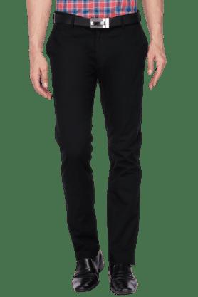 BLACKBERRYSMens Slim Fit Solid Chinos - 200889359