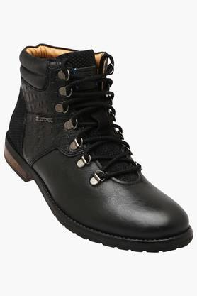 ALBERTO TORRESI Mens Leather Lace Up Casual Boots