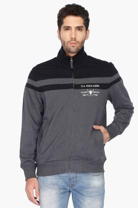 U.S. POLO ASSN. Mens Regular Fit Colour Block Sweatshirt