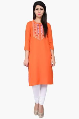 JUNIPER Women Embroidered Kurta - 201932802