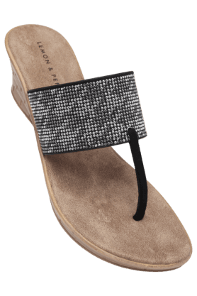 LEMON & PEPPER Womens Daily Wear Slipon Wedge Chappal